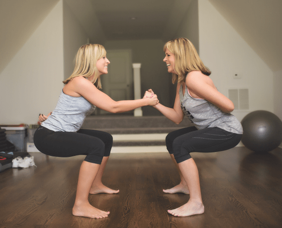double time workouts - partner workouts for the family