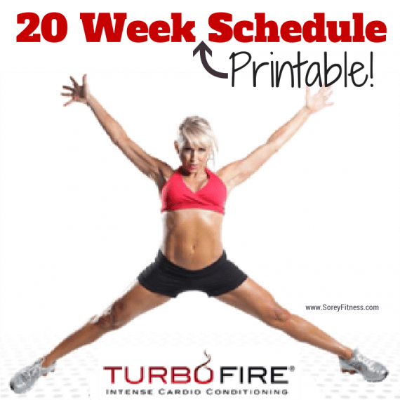 TurboFire Schedule and Printable Workout Calendar – 20 Week Plan