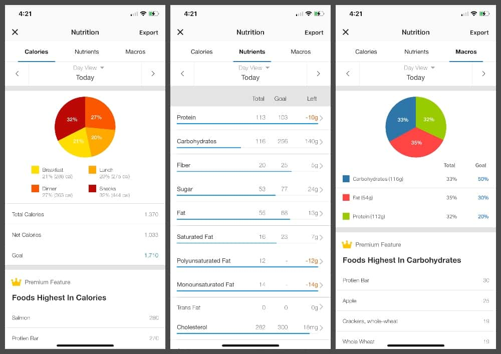 How to track macros and net carbs in MyFitnessPal