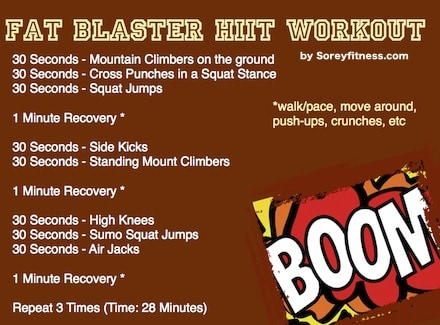 fatblaster HIIT workout