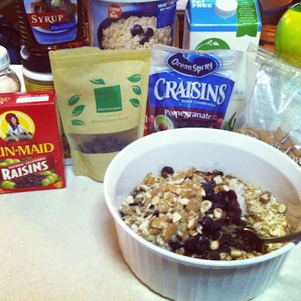 Ingredients for Sweet Potato Oat Bars by The Eat Clean Diet