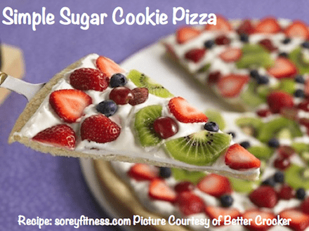 Simple Sugar Cookie Fruit Pizza