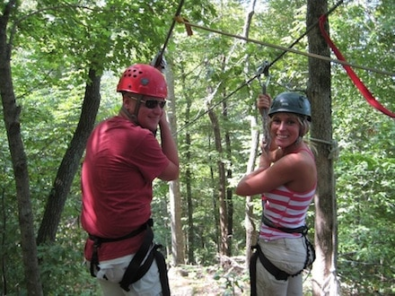 Ziplining on a Friday