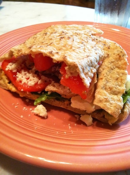 Fresh Greek Pita Sandwich - Cheap, Healthy Food