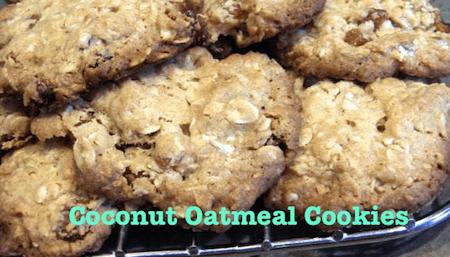Coconut Oatmeal Cookies – All Natural & Whole Foods Recipe