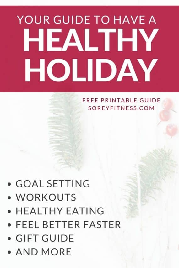 Happy Healthy Holidays are here! We share how to stay on track with your workouts, enjoy your favorite foods and find your happy balance this season.