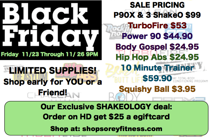 CYBER MONDAY Deals from Beachbody: TurboFire, P90X, Hip Hop Abs, and More!
