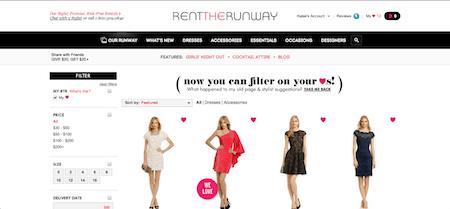 Rent the Runway Choosing a Dress