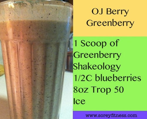 shakeology greenberry recipe