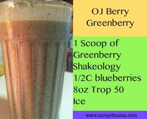 shakeology greenberry recipe