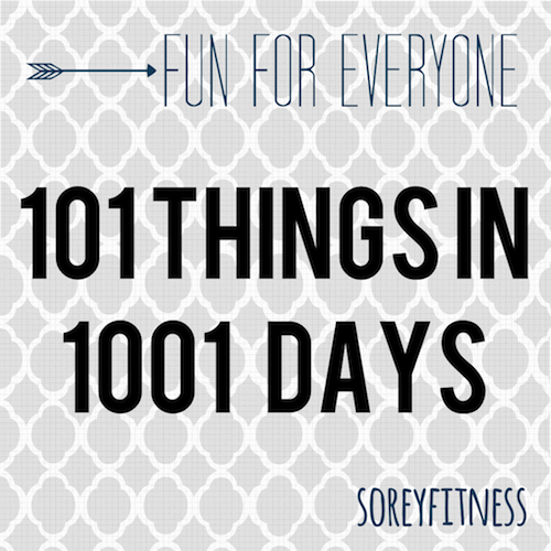 101 Things in 1001 Days – Take the Challenge! (Updated!)