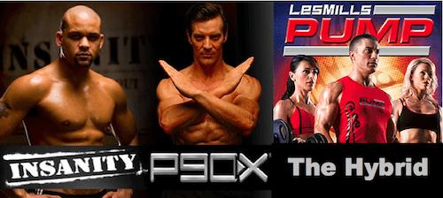 P90X PUMP Insanity Hybrid Workout Schedule