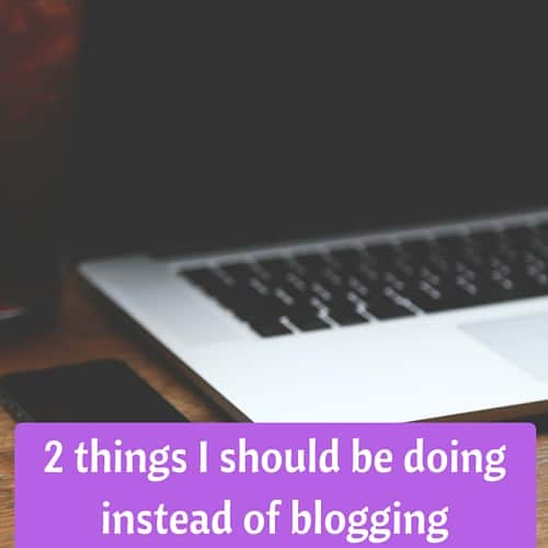 2 Things I Should Be Doing Instead of Blogging