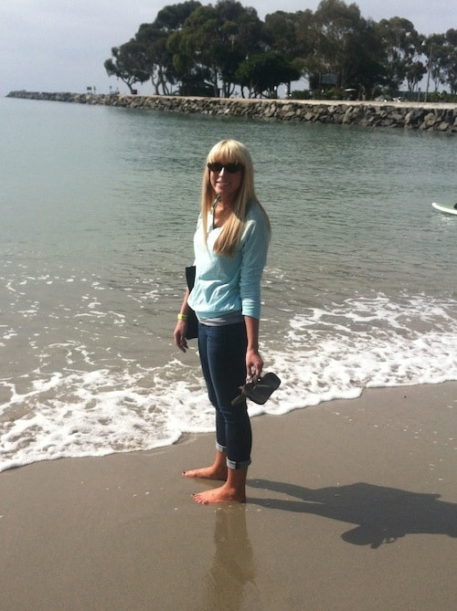 First time at the Pacific Ocean