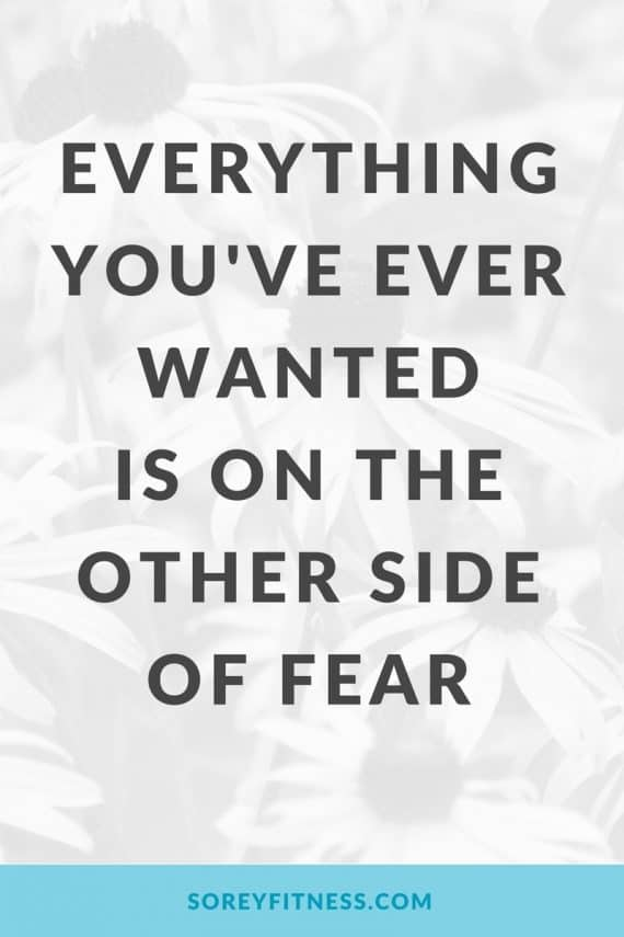 Everything You've Ever Wanted is On the Other Side of Fear - Motivational Quotes