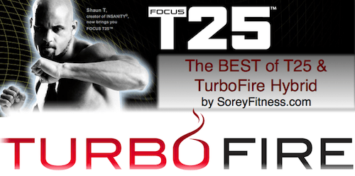 T25 TurboFire Hybrid Workout 5 Day Schedule Calendar