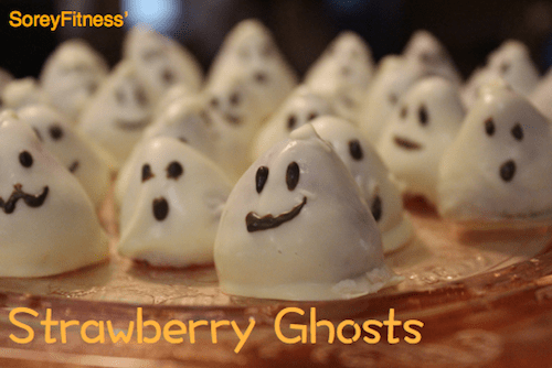 Chocolate Covered Strawberry Ghosts for Halloween
