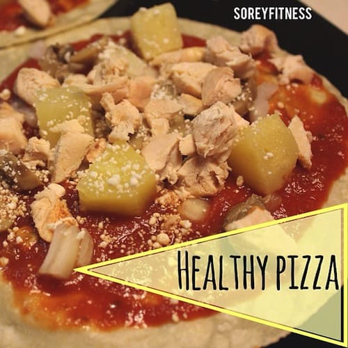 Healthy Chicken Pineapple Pizza