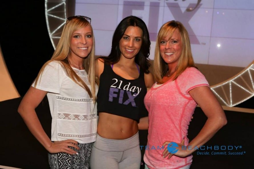 Kim and Kalee with Autumn Calabrese from the 21 Day Fix Workouts