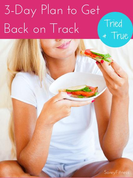 3 Day Plan Get Back on Track