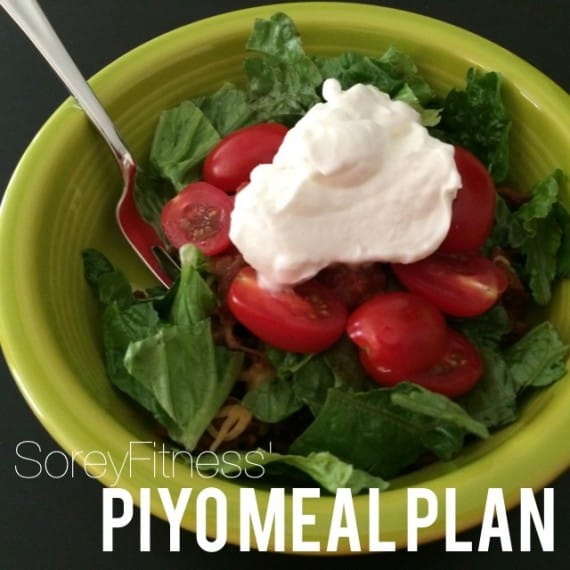 PiYo Meal Plan A – 5 Days of Meals + Take Out Options!