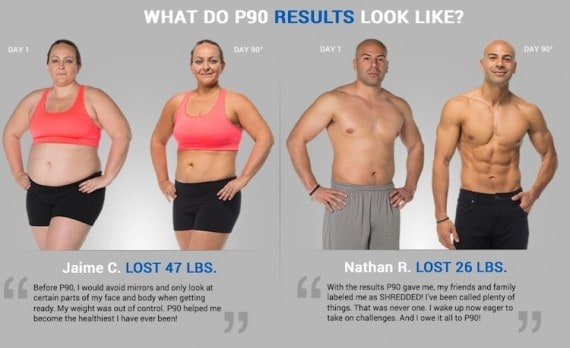p90 before and after