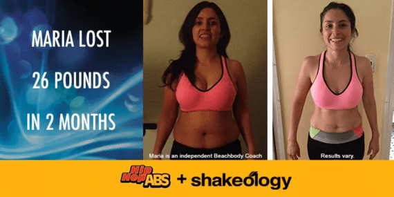 Hip Hop Abs before and after