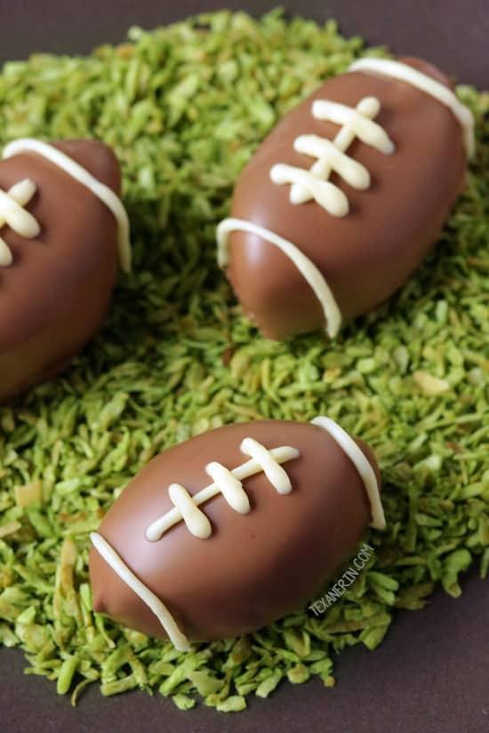 Football Peanut Butter Cups