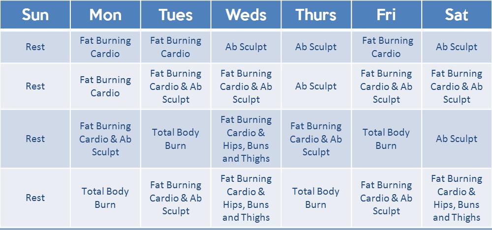 Hip Hop Abs Workout Calendar