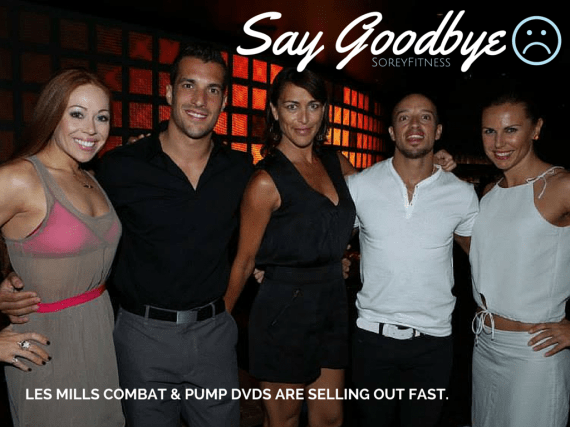 Les Mills Combat and Pump DVDs - Going Away Forever!