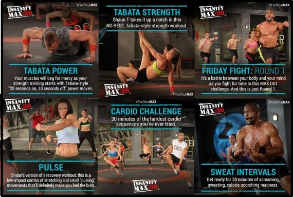 Insanity Max 30 Workouts