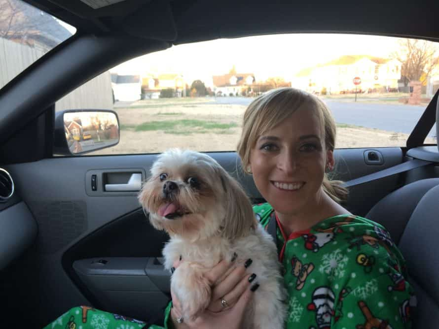 Roxy, my dog, and me