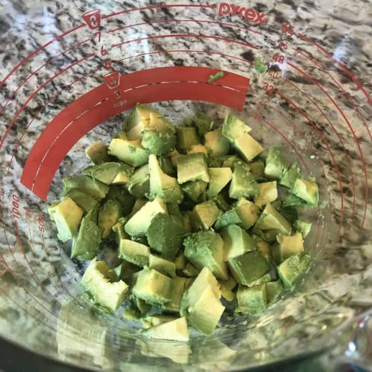 diced avocado in a bowl