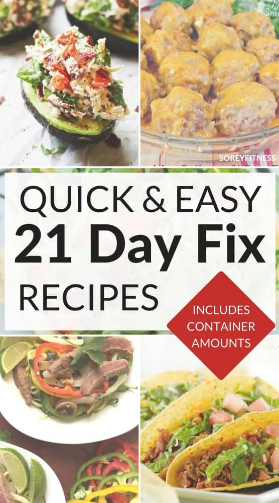 21 day fix recipes with container counts