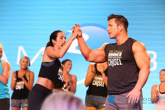 hammer and chisel workout at Beachbody Leadership Retreat 2015