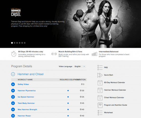 Hammer and Chisel Workout Review - How to Get Max Results in 60 Days