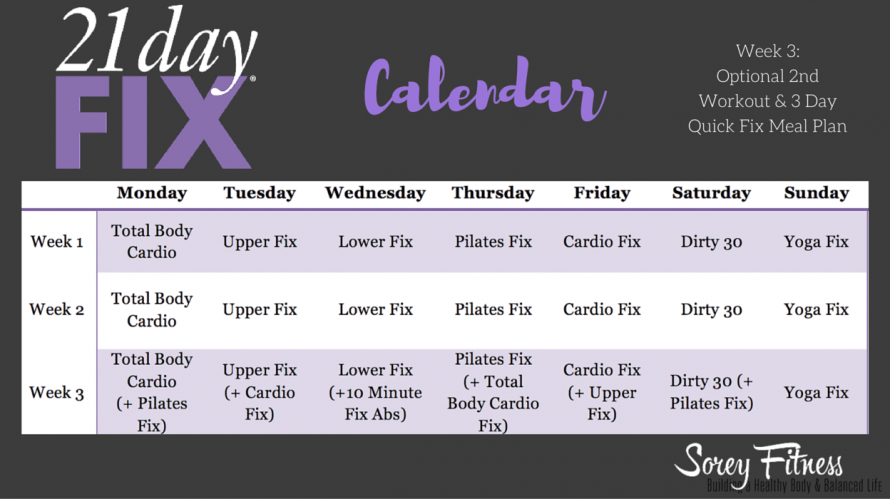 The 21 Day Fix Schedule - The 21 Day Fix Calendar