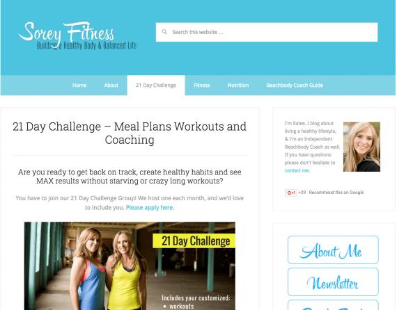 Beachbody Coaching as a Blogger
