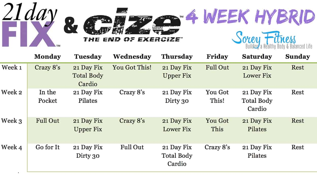 21 Day Fix Cize Hybrid