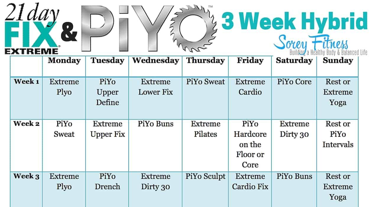 21 Day Fix Extreme PiYo Hybrid