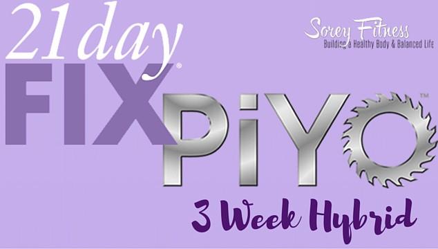 PiYo 21 Day Fix Hybrid Workout Calendar