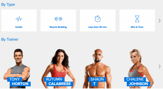 Beachbody On Demand Streaming with Favorite Trainers