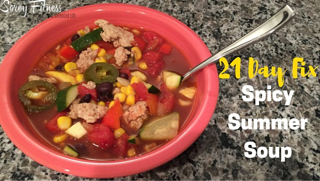 21 Day Fix Soup – Spicy Summer Vegetable Soup