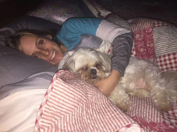 Kalee and Roxy Sleeping