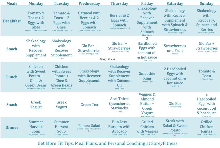 Master Chisel Calendar Meal Plan
