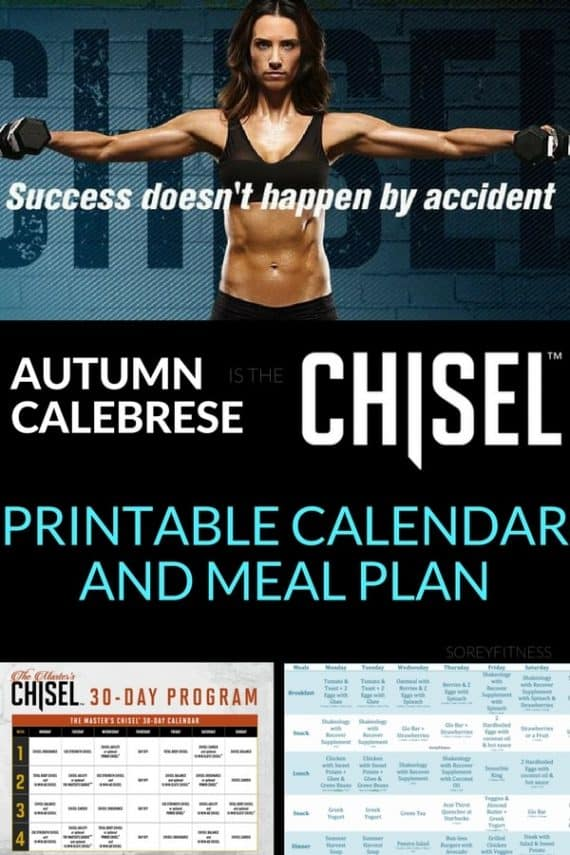 Autumn Calabrese's Master Chisel workouts and meal plan are no joke. Get your printable calendar and sample meal plan to get max results with me.