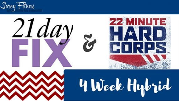 22 Minute Hard Corps 21 Day Fix Hybrid Workout Schedule