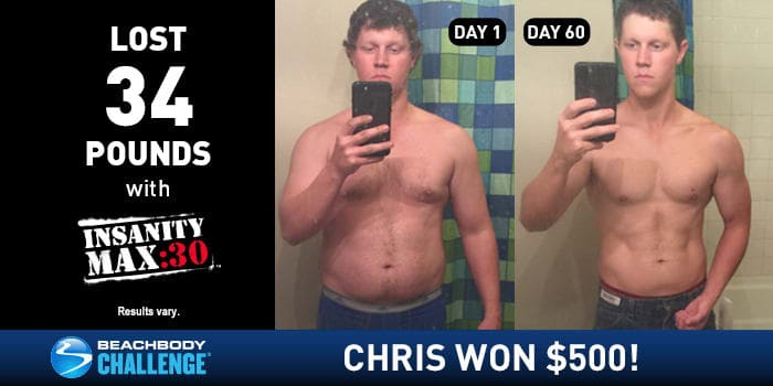Insanity Max 30 Before and After Guy