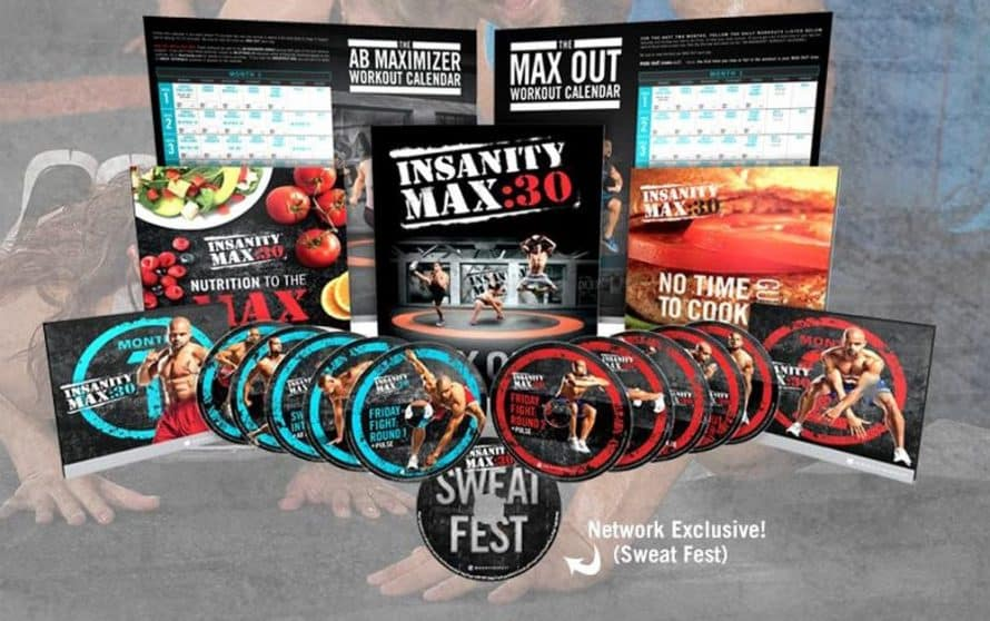 Insanity Max 30 Includes