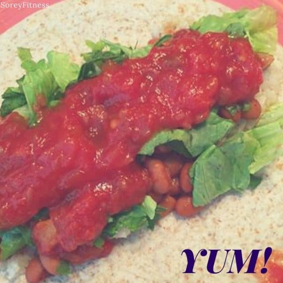 bean burrito meal